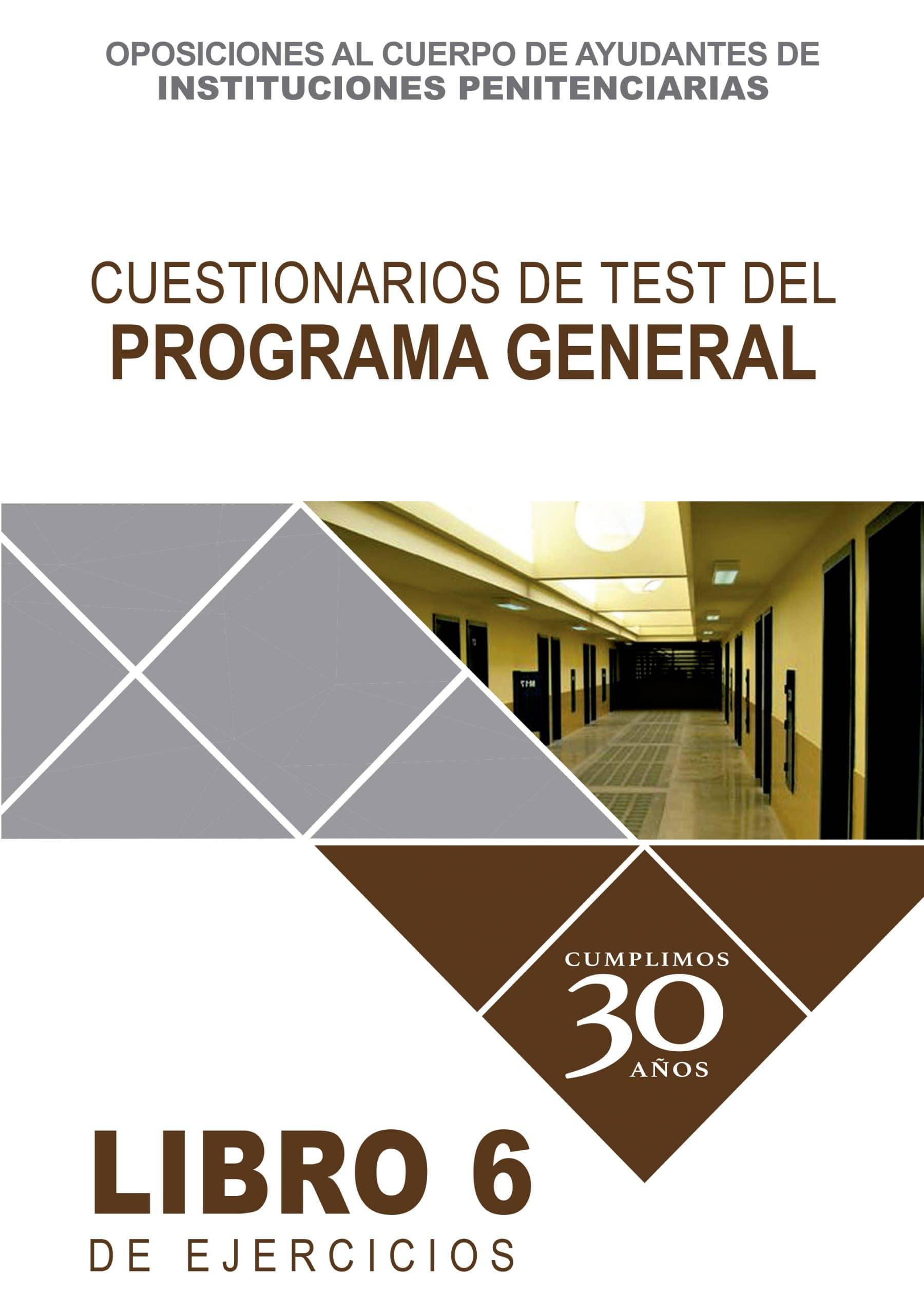 Cuestionario de Test del Programa General.